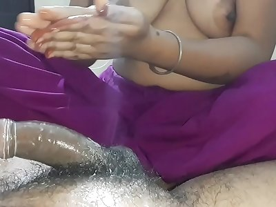 Indian Wife Trying To Make Husband Cum